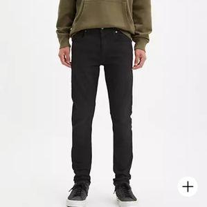 LEVI'S Slim Fit Low Waist Zip Fly 522 Jeans black